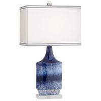 Pacific Coast 34P03 Dusky 27 inch 100 watt Splash Blue Table Lamp Portable Light