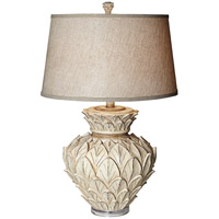Artichoke 31 inch 150 watt Beige Almond Table Lamp Portable Light