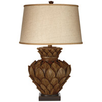 Artichoke 31 inch 150 watt Tropical Brown Table Lamp Portable Light