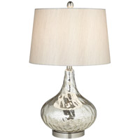 Pacific Coast Signature 1 Light Table Lamp in Silver Mercure 87-138-26