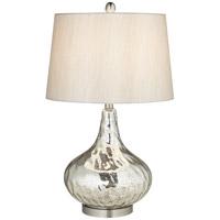 Pacific Coast 87-138-26 Signature 26 inch 100 watt Silver Mercure Table Lamp Portable Light
