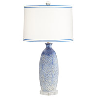 Pacific Coast 34P30 Halsted 30 inch 100 watt Blue Decorated Table Lamp Portable Light