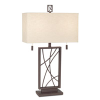 Pacific Coast 87-1722-68 Crossroads 31 inch 120 watt Poly Dark Rust Table Lamp Portable Light
