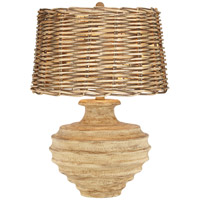 Pacific Coast Taos 1 Light Table Lamp in Beige with Brown accents 87-180-06