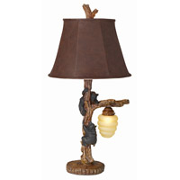 Honey Bear 32 inch 157 watt Multi-Wood Brown Table Lamp Portable Light
