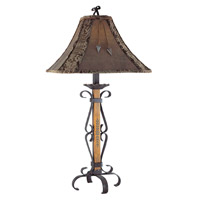 El Paso 34 inch 150 watt Fruitwood Table Lamp Portable Light
