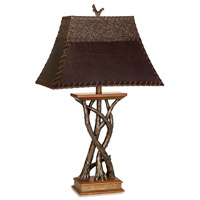Pacific Coast 87-6188-9G Montana Reflections 31 inch 150 watt Dark Fruitwood Table Lamp Portable Light