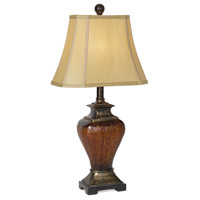 Pacific Coast Tudor 1 Light Table Lamp in Brown Crackle 87-6349-25