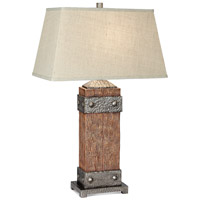 Pacific Coast 87-6778-9G Rockledge 32 inch 150 watt Dark Fruitwood Table Lamp Portable Light