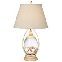 Pacific Coast 87-6786-05 Seascape Reflections 29 inch 150 watt Coralline Ivory Table Lamp Portable Light Shells Not Included