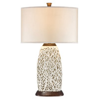 Seaspray 30 inch 150 watt Pearl White Table Lamp Portable Light