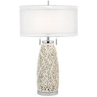 Seaspray 32 inch 150 watt Pearl White Table Lamp Portable Light
