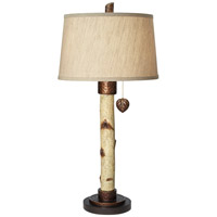 Birch Tree 34 inch 150 watt Natural Table Lamp Portable Light