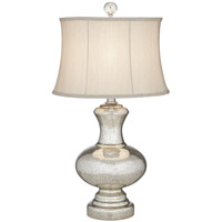 Mercury Glass Whimsical 32 inch 150 watt Antique Mercure Table Lamp Portable Light