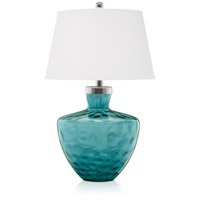 Pacific Coast 87-7104-95 Aqua Cascade 26 inch 150 watt Turquoise Table Lamp Portable Light