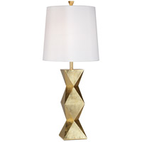 Ripley 34 inch 150 watt Gold Leaf with Light Glaze Table Lamp Portable Light
