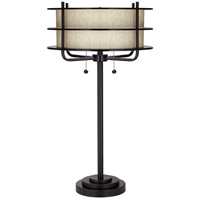 Ovation 32 inch 200 watt Bronze Table Lamp Portable Light