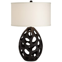 Pacific Coast 87-7431-07 Luna 30 inch 150 watt Black Table Lamp Portable Light