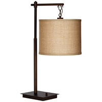 Phillipp 30 inch 75 watt Oil Rubbed Bronze Table Lamp Portable Light