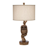 Night Owl 31 inch 150 watt Aged Fruitwood Table Lamp Portable Light