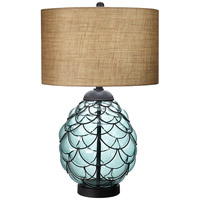 Pacific Coast Pacific Glass 1 Light Table Lamp in Blue 87-7578-51
