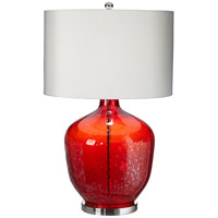 Gala 30 inch 150 watt Red Table Lamp Portable Light