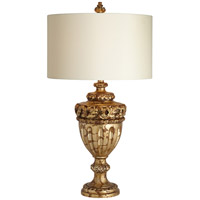 Constantine 32 inch 150 watt Antique Gold Leaf Table Lamp Portable Light