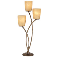 Metro Plaza 32 inch 180 watt Copper Bronze with Gold Table Lamp Portable Light