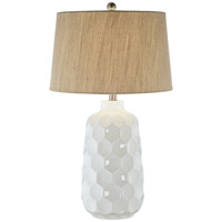 Pacific Coast 87-7787-70 Honeycomb 29 inch 150 watt White Table Lamp Portable Light