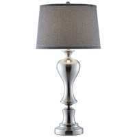 Electra 33 inch 150 watt Brushed Nickel with Brushed Steel Table Lamp Portable Light