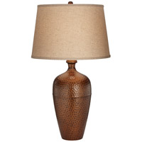 Pacific Coast 87-7847-30 Zarah 32 inch 150 watt Copper and Autumn Gold Table Lamp Portable Light
