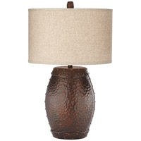 Pacific Coast 87-7869-03 Emory 31 inch 150 watt Antique Copper Table Lamp Portable Light