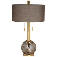 Empress 31 inch 200 watt Gold Table Lamp Portable Light