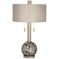 Empress 31 inch 200 watt Brushed Nickel/Brushed Steel Table Lamp Portable Light