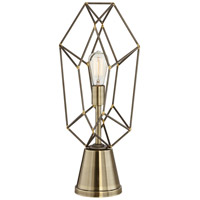 The Capital 24 inch 150 watt Antique Brass Table Lamp Portable Light