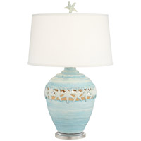 Pacific Coast 87-7904-45 Starfish Kiss 30 inch 157 watt Blue Table Lamp Portable Light