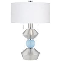 Pacific Coast 87-7910-26 Sterling 28 inch 120 watt Brushed Nickel/Brushed Steel Table Lamp Portable Light