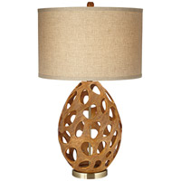 Luna 32 inch 150 watt Medium Oak Table Lamp Portable Light