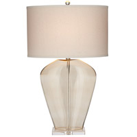 Essie 31 inch 100 watt Champagne Table Lamp Portable Light