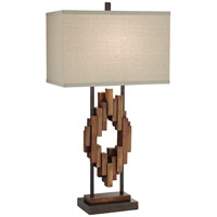 Bonanza Wood 33 inch 150 watt Multi Wood Tones Table Lamp Portable Light