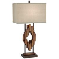 Pacific Coast 87-8032-M1 Bonanza Wood 33 inch 150 watt Multi Wood Tones Table Lamp Portable Light