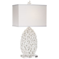 Ocean Treasures 28 inch 150 watt White Table Lamp Portable Light, Kathy Ireland