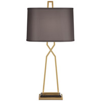 Addison 37 inch 100 watt Antique Brass Table Lamp Portable Light