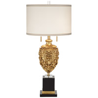 Giovanni 36 inch 200 watt Gold Leaf Table Lamp Portable Light