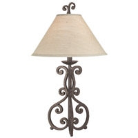 Pacific Coast Barcelona 1 Light Table Lamp in Rust 87-8764-59