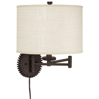 Pacific Coast Livingstown Industrial 1 Light Swing Arm Wall Lamp in Poly Dark Rust 89-5772-68
