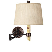 Pacific Coast Birch Tree 1 Light Swing Arm Wall Lamp in Natural 89-5776-48