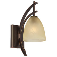 Pacific Coast Orbit 1 Light Swing Arm Wall Lamp in Bronze with Gold Edge 89-5794-20