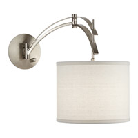 Pacific Coast Vertigo 1 Light Swing Arm Wall Lamp in Brushed Nickel and Steel 89-5795-99