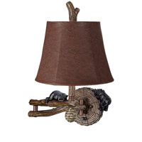 Pacific Coast Honey Bear 1 Light Swing Arm Wall Lamp in Multi-Wood Brown 89-5799-21